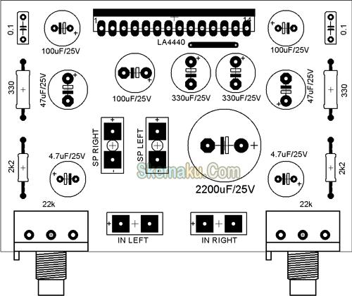 amplifier stereo dengan la4440  u00bb page 2 of 3  u00bb skemaku com