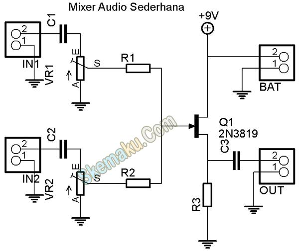 rangkaian audio mixer fet  u00bb skemaku com