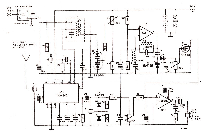 rangkaian-penerima-cb-27mhz