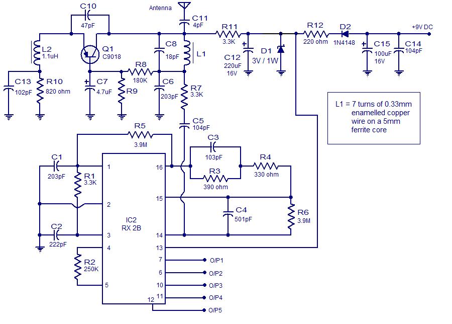 Rangkaian Remote Control 5 Channel Skemaku