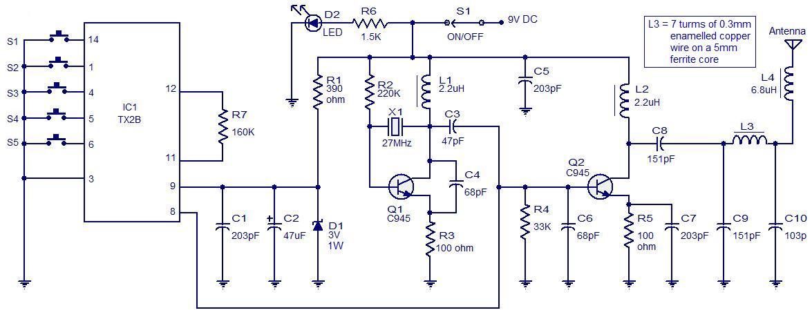Rangkaian Radio Remote Control Channel on Quadcopter Arduino Schematic