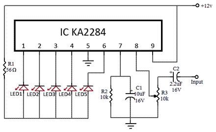 VU-meter-LED-KA2284