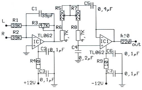 rangkaian low pass filter subwoofer  u00bb skemaku com