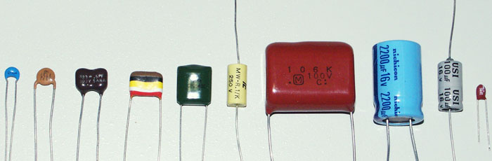 contoh bentuk dan jenis kapasitor