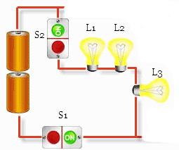 rangkaian lampu seri