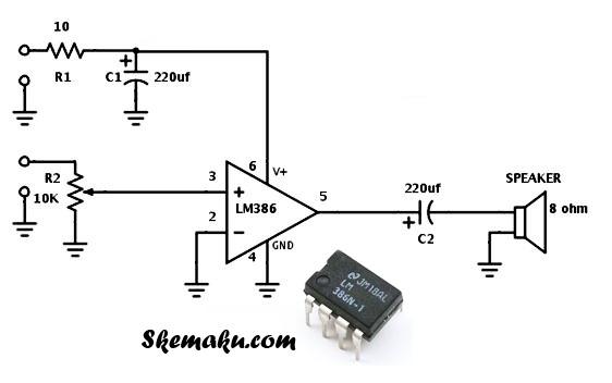 rangkaian speaker aktif sederhana dengan USB