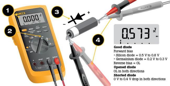 cara mengukur dioda dengan multimeter digital