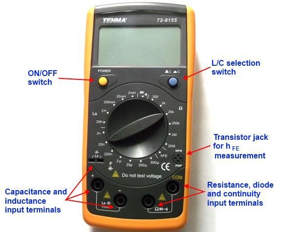 cara mengukur kapasitor (LCR meter)