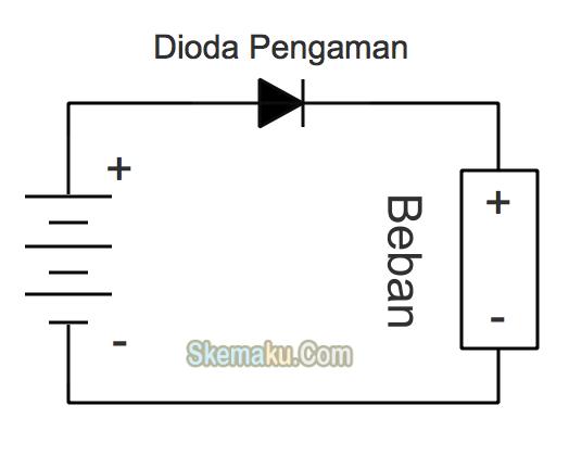 dioda sebagai pengaman polaritas dc