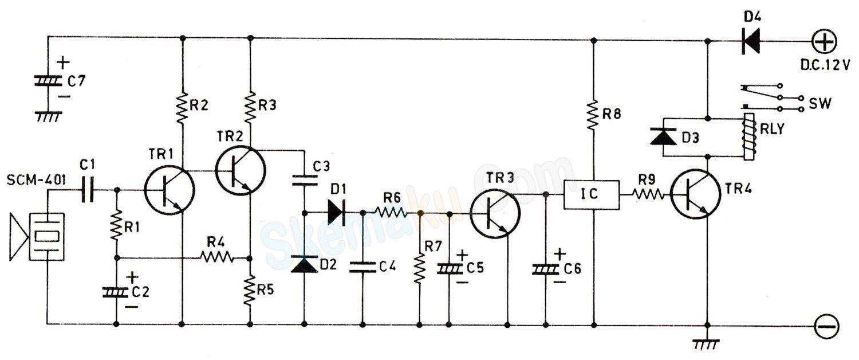 rangkaian penerima remote control ultrasonic