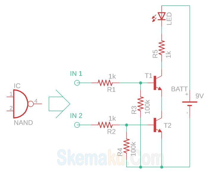fungsi transistor sebagai gerbang logika nand