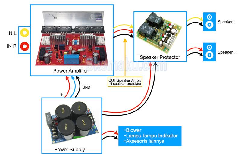 cara merakit power ampli 400 watt